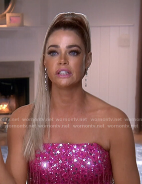 Denise's pink star sequin dress on The Real Housewives of Beverly Hills