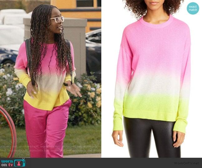 Gleeson Dip Dye Cashmere Sweater by Alice + Olivia worn by Diane Johnson (Marsai Martin) on Blackish