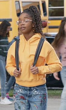 Diane's yellow Champion hoodie on Black-ish