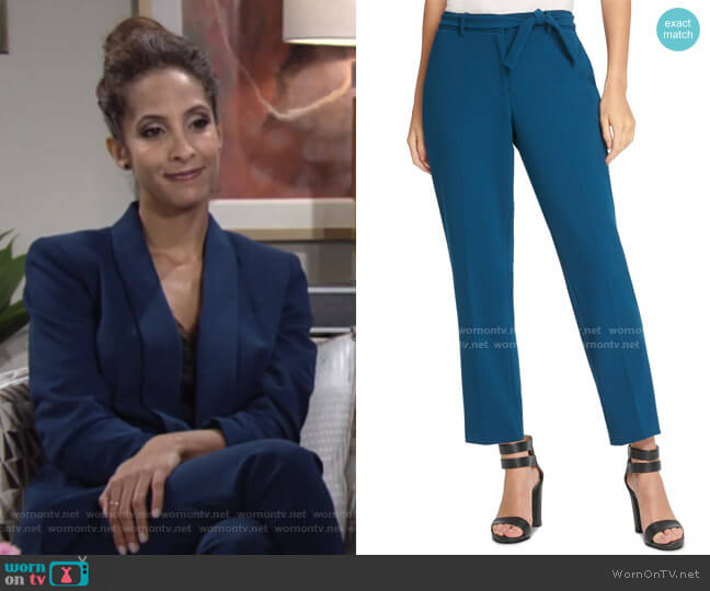 Belted Essex Ankle Pant by DKNY worn by Lily Winters (Christel Khalil) on The Young & the Restless