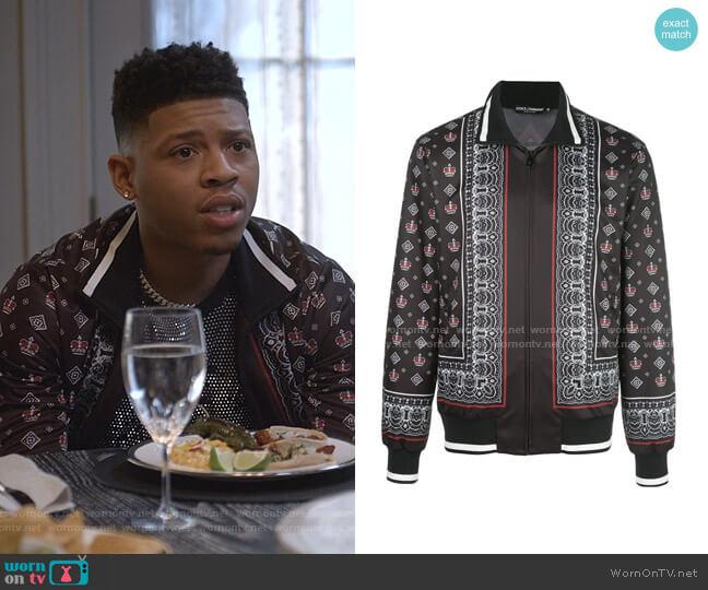 Bandana Print Jacket by Dolce & Gabbana worn by Hakeem Lyon (Bryshere Y. Gray) on Empire