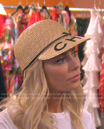 Droit's straw hat on The Real Housewives of Beverly Hills