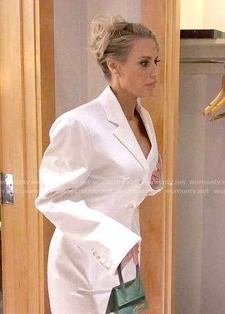 Dorit's white blazer dress on The Real Housewives of Beverly Hills