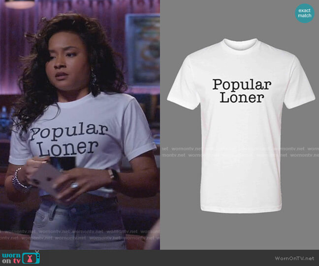 Popular Loner Tee by Edele NYC worn by Rhyon Nicole Brown on Empire