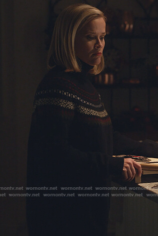 Elena's fair isle turtleneck sweater on Little Fires Everywhere