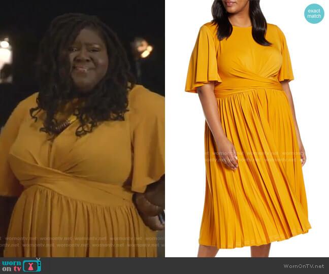 Wrap Waist Jersey Midi Dress by Eloquii worn by Becky (Gabourey Sidibe) on Empire