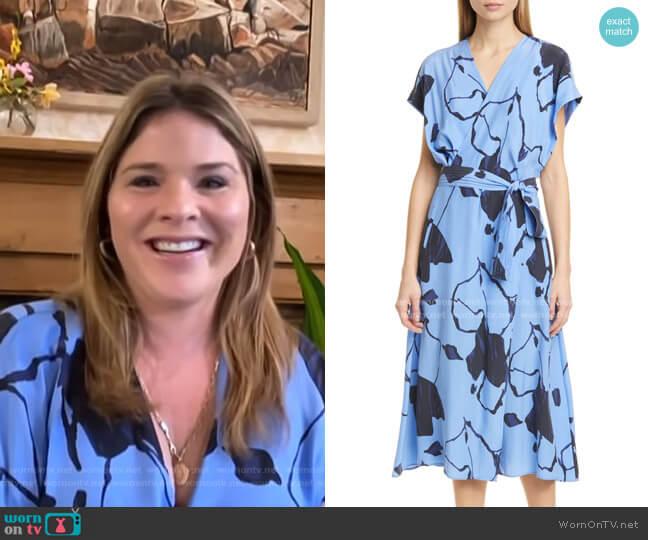 Bijou Silk Midi Dress by Equipment worn by Jenna Bush Hager  on Today