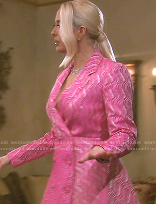Erika's pink blazer dress on The Real Housewives of Beverly Hills
