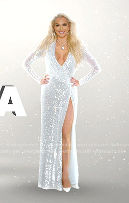 Erika's sequin gown on The Real Housewives of Beverly Hills Opening Credits
