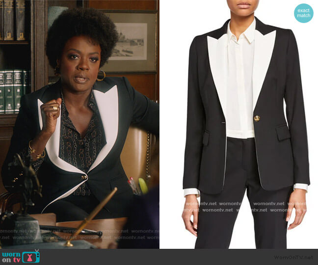 Bavoya One-Button Jacket by Escada worn by Annalise Keating (Viola Davis) on HTGAWM