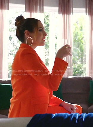 Fallon's orange suit on Dynasty