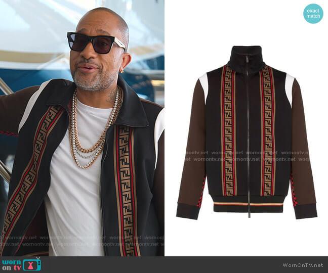 Fendi FF Monogram Sweater by Fendi worn by Kenya Barris  on BlackAF