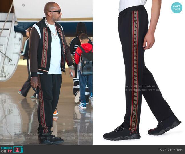 Side-Striped Jersey Joggers by Fendi worn by Kenya Barris  on BlackAF