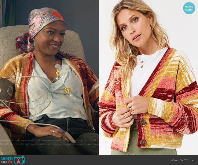 Forever 21 Striped Chenille Sweater worn by Ali Finer (Javicia Leslie) on God Friended Me