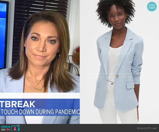 Linen Blazer by Gap worn by Ginger Zee  on Good Morning America