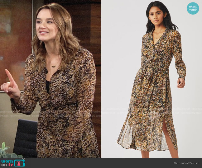 Ghost London Eloise Dress worn by Summer Newman (Hunter King) on The Young & the Restless