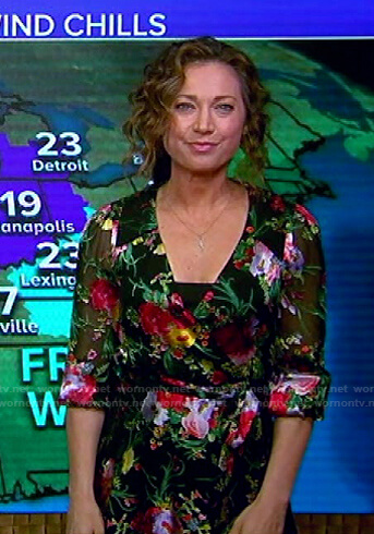 Ginger's black floral dress on Good Morning America