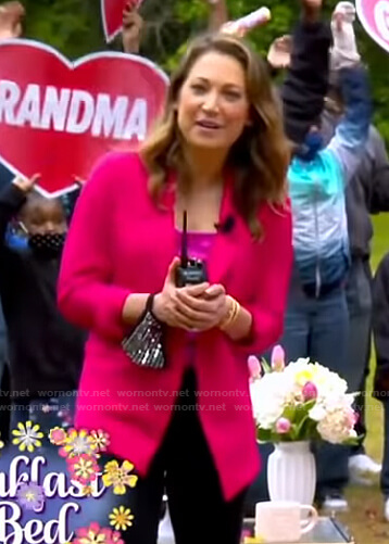 Ginger's pink blazer on Good Morning America