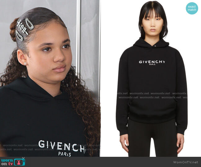 Vintage Hoodie by Givenchy worn by Izzy Barris (Scarlet Spencer) on BlackAF