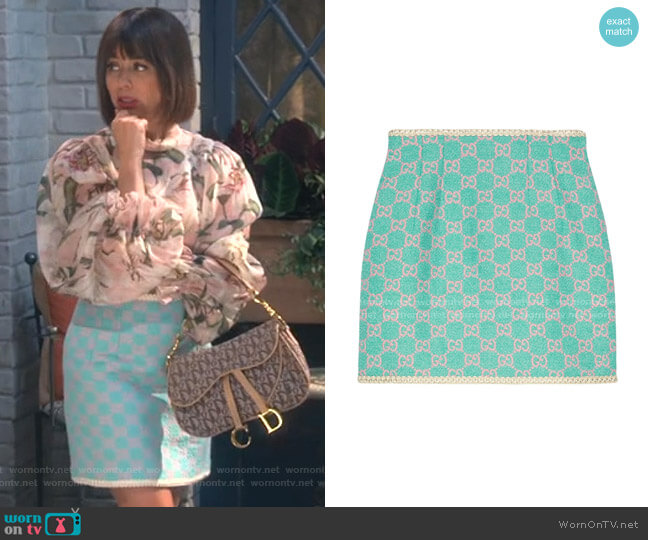 GG Tweed Mini Skirt by Gucci worn by Elizabeth (Natasha Leggero) on Broke