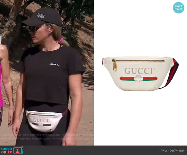 Leather Belt Bag by Gucci worn by Teddi Mellencamp Arroyave  on The Real Housewives of Beverly Hills