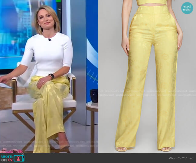 Femme Floral Pant by Guess worn by Amy Robach  on Good Morning America