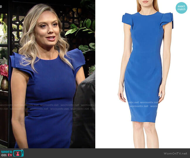 Halston Slim Fit Dress worn by Abby Newman (Melissa Ordway) on The Young & the Restless