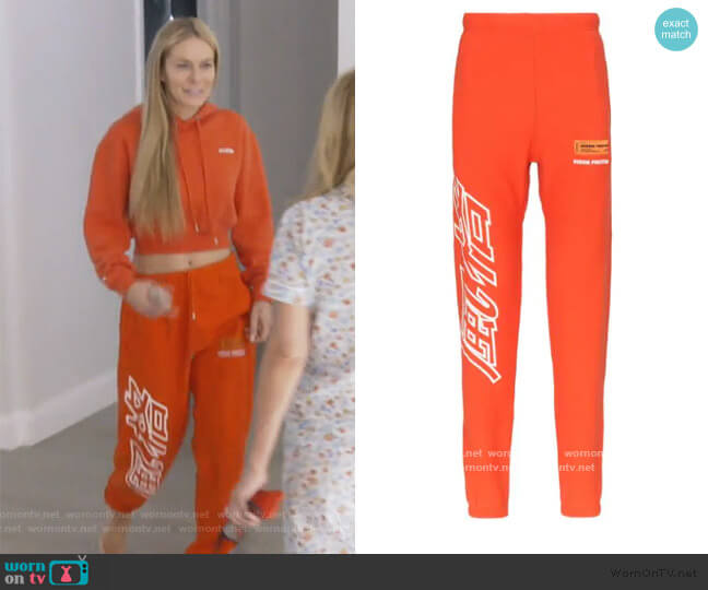 Print Cotton Sweatpants by Heron Preston worn by Leah McSweeney  on The Real Housewives of New York City