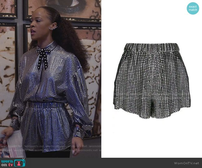 Embellished Shorts by Iro worn by Tiana Brown (Serayah McNeill) on Empire