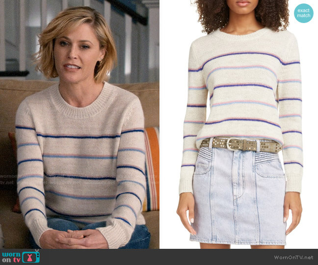Isabel Marant Etoile Gian Striped Sweater worn by Claire Dunphy (Julie Bowen) on Modern Family