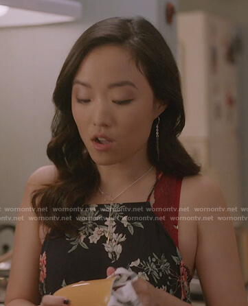 Kim's cloud and bolt necklace on Kims Convenience