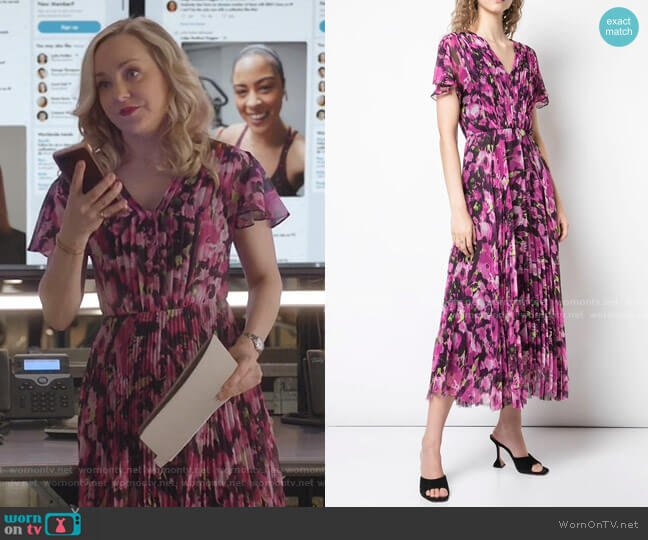 Long Floral Print Dress by Jason Wu Collection worn by Marissa Morgan (Geneva Carr) on Bull