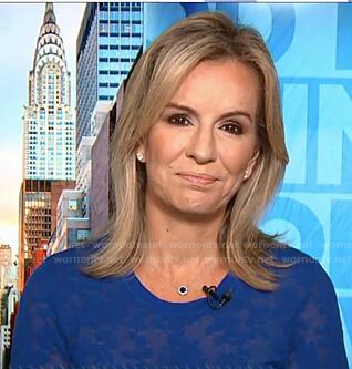 Dr. Jennifer Ashton's blue sheer sweater on Good Morning America