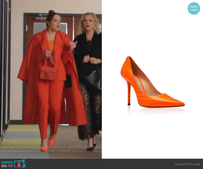 Love Pumps by Jimmy Choo worn by Fallon Carrington (Elizabeth Gillies) on Dynasty