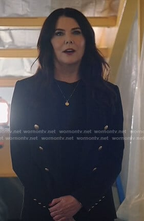 Joan's black blazer with gold buttons on Zoeys Extraordinary Playlist