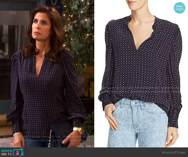 Korina Starburst Print Top by Joie worn by Hope Williams (Kristian Alfonso) on Days of our Lives