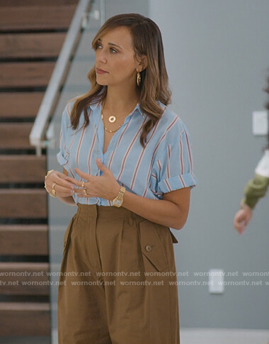 Joya's brown cropped cargo pants on BlackAF