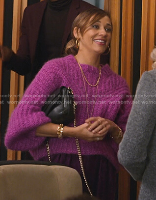 Joya's purple chunky sweater on BlackAF