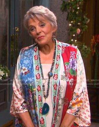 Julie's floral kimono on Days of our Lives