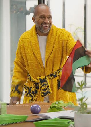 Kenya's gold Versace robe on BlackAF