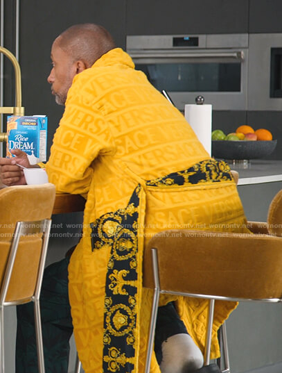 Kenya's yellow bathrobe on BlackAF