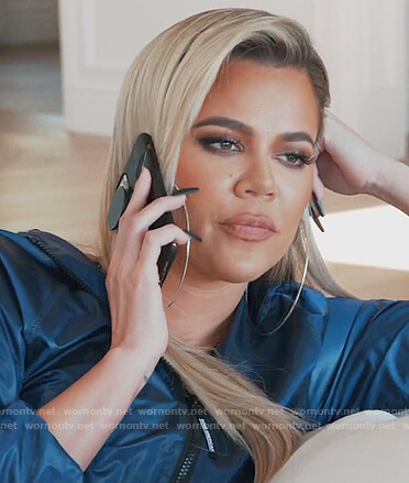 Kylie's black textured robe and tank on Keeping Up with the Kardashians