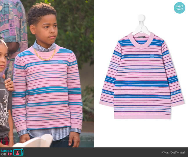Striped Pullover by Acne Studios Kids worn by Pops Barris (Justin Claiborne) on BlackAF