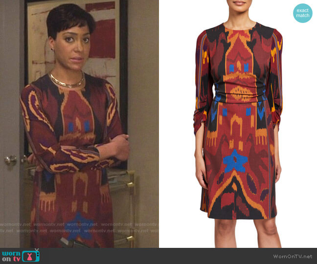 Kobi Halperin Jasmine Dress worn by Lucca Quinn (Cush Jumbo) on The Good Fight