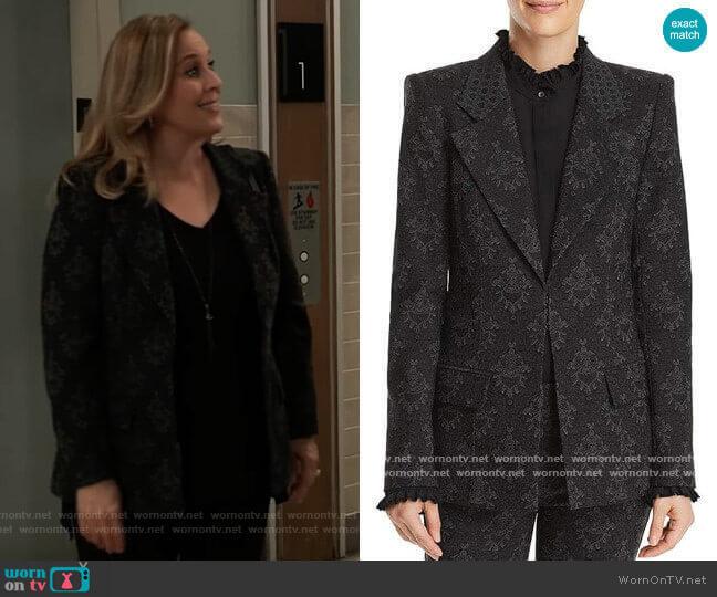 Kobi Halperin Porsha Printed Blazer worn by Laura Collins (Genie Francis) on General Hospital