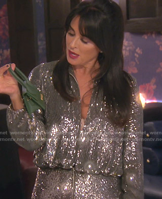 Kyle's sequin jumpsuit on The Real Housewives of Beverly Hills