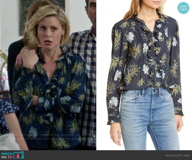 La Vie Rebecca Taylor Jasmine Top worn by Claire Dunphy (Julie Bowen) on Modern Family