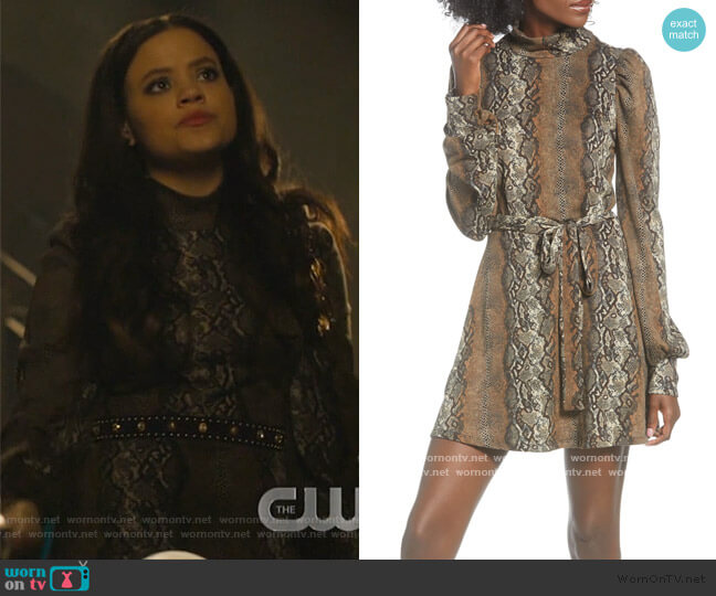 Mock Neck Minidress by Leith worn by Maggie Vera (Sarah Jeffery) on Charmed