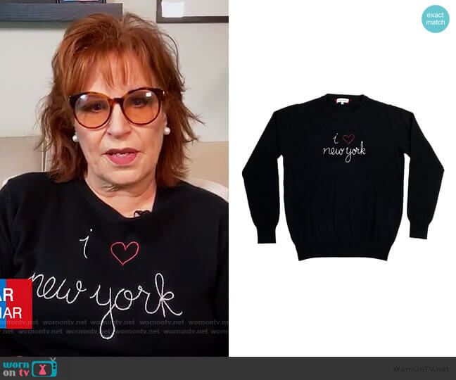 I Heart New York Sweater by Lingua Franca worn by Joy Behar  on The View