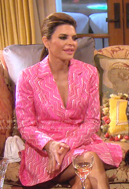 Lisa's pink blazer dress on The Real Housewives of Beverly Hills